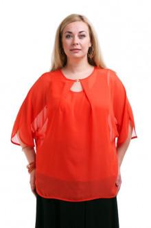 """Блуза """"Олси"""" 1210021.2 ОЛСИ (Красный)"""