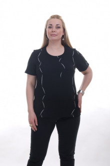 """Блуза """"Олси"""" 1510001.1 ОЛСИ (Черный)"""