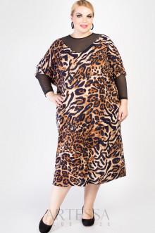 """Платье """"Артесса"""" PP04013LEO01 (оранжевый)"""